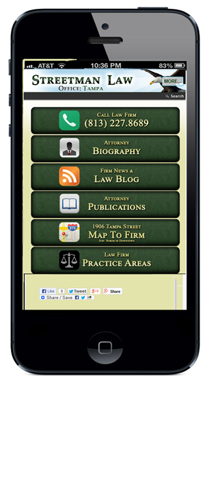 Tampa Law Firm has new Website